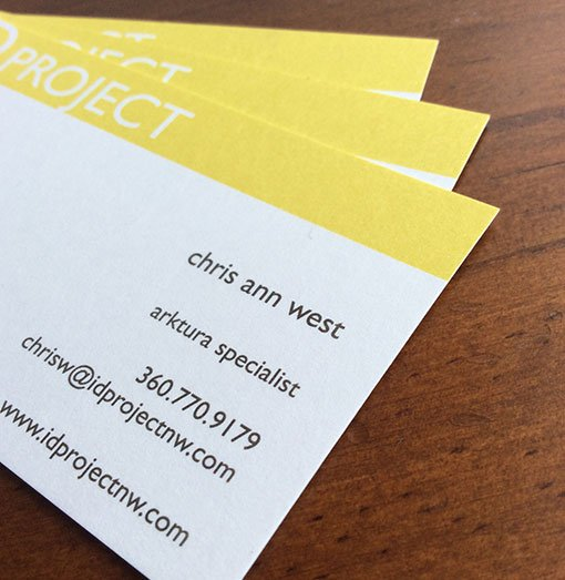 classic crest business cards with pms colors