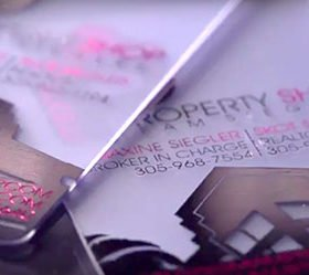 frosted plastic business cards with foil
